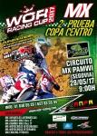 Cartel de 2ª Prueba copa Centro ANPA -Motocross- 2017