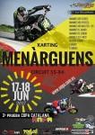 Cartel de 3ª Prueba Copa Catalana Circuito Menarguens
