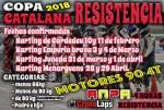 Cartel de 1ª Prueba Copa Catalana Resistencia 2018 Karting Cardedeu